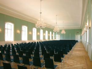 Unsichtbare Flachmembran-Lautsprecher Hubertussaal Schloss Nymphenburg München
