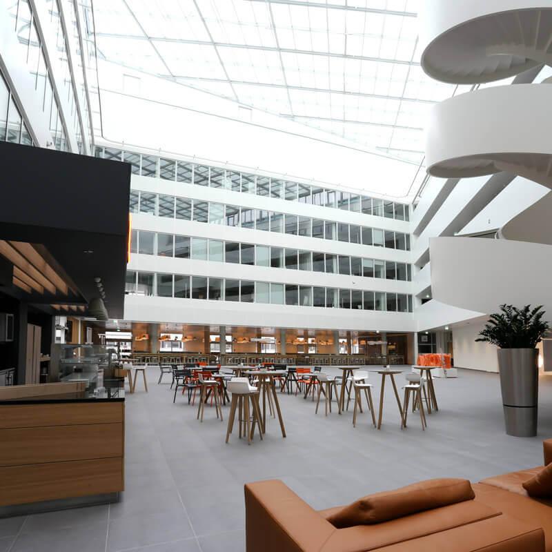 Leistung Beschallungskonzepte und Beschallungstechnik KUKA Atrium Augsburg